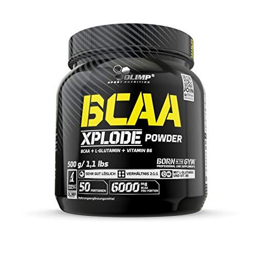 OLIMP- BCAA Xplode Powder, Fruit Punch (500g). Nahrungsergänzung mit BCAA- und L-Glutamin in einer Portion.
