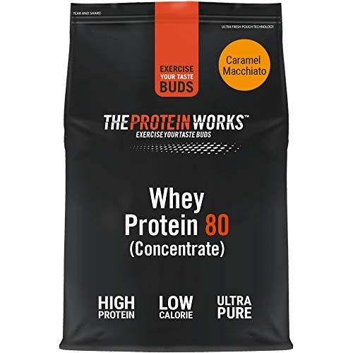 Whey 80 Protein Pulver (Konzentrat) | Premium Eiweißpulver Zum Muskelaufbau, Proteinpulver | THE PROTEIN WORKS, Caramel Macchiato, 2kg