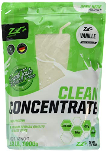 ZEC+ Clean Concentrate – 1000 g, Geschmack Vanille │ Molkenprotein Whey Pulver