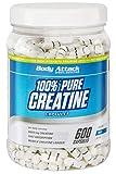 Body Attack 100% Pure Creatine - 600 Kapseln, hochwertiges mikrofeines Kreatin Monohydrat für Muskelwachstum, Kraft und Ausdauer, Produkt der Kölner Liste, hochdosiert mit 5620mg, Made in Germany