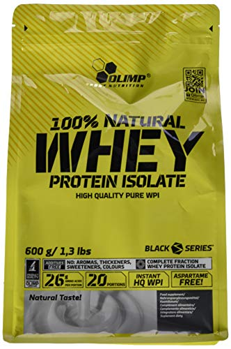 Olimp 100% Natural Whey Protein Isolate, 600g 600 g