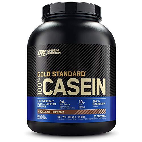 Optimum Nutrition ON 100% Gold Standard Casein Protein, Eiweißpulver Reich an Essentiellen Aminosäuren Komplex, BCAA, Chocolate Supreme, 55 Portionen, 1,82kg, Verpackung kann variieren