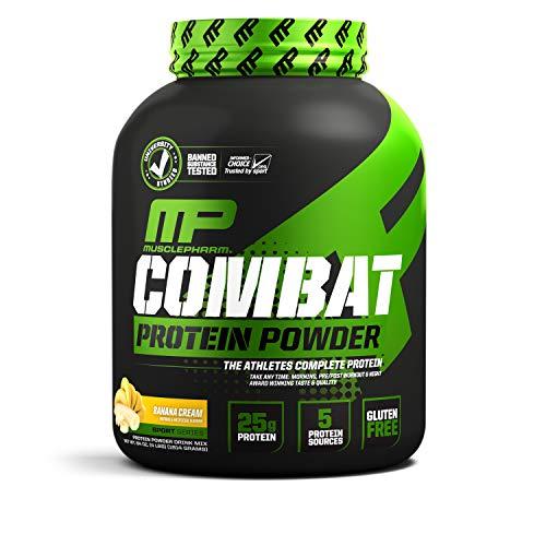 MusclePharm Combat Powder - Banana, 1er Pack (1 x 1.814 kg)