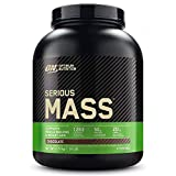 Optimum Nutrition ON Serious Mass Hochkalorisches Weight Gainer Protein Pulver mit Kohlenhydrate, Whey Protein, Vitaminen, Kreatin und Glutamin, Chocolate, 8 Portionen, 2,73kg