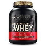 Optimum Nutrition ON Gold Standard Whey Protein Pulver, Eiweißpulver Muskelaufbau mit Glutamin und Aminosäuren, natürlich enthaltene BCAA, Double Rich Chocolate, 73 Portionen, 2,26kg