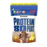 WEIDER Protein 80 Plus Eiweißpulver, Schoko, Low-Carb, Mehrkomponenten Casein Whey Mix für Proteinshakes, 500g
