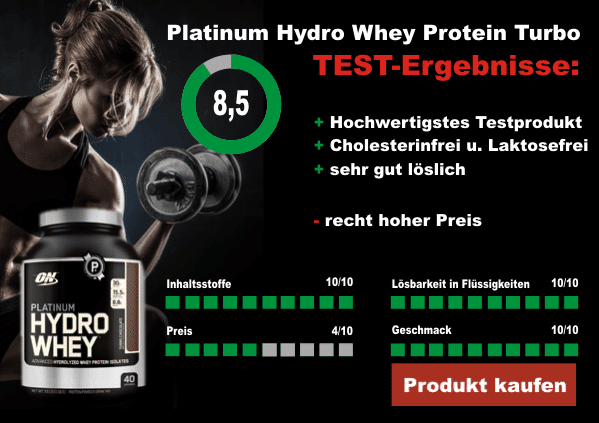 Optimum Nutrition Platinum Hydro Whey Protein Turbo Testergebnis