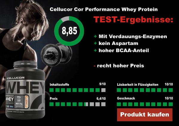 Cellucor Cor Performance Whey Protein Testergebnisse