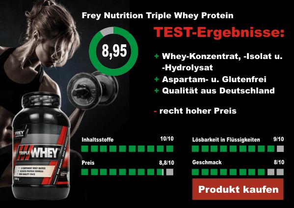 Frey Nutrition Triple Whey Testergebnisse