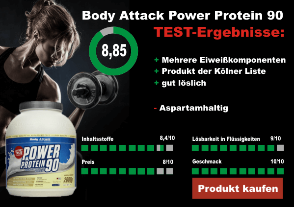 Body Attack Power Protein 90 Testergebnis