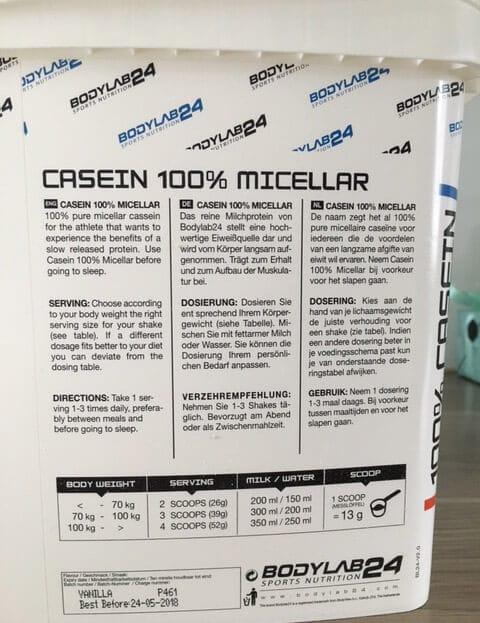 bodylab24 casein micellar dosierung