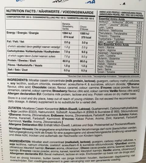bodylab24 casein micellar nutrition facts