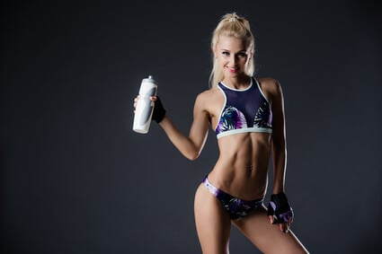 fitness girl protein isolate shake
