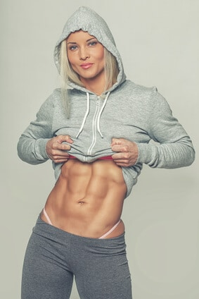 woman abs sixpack