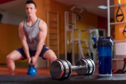bodybuilder wheyprotein kettleball