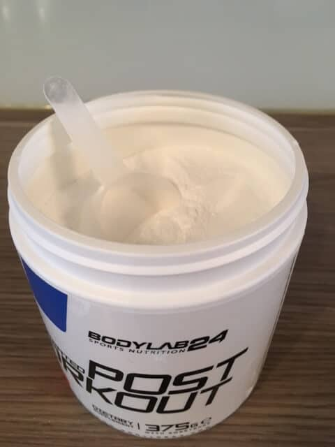 bodylab24 concentrated post workout geoeffnet loeffel