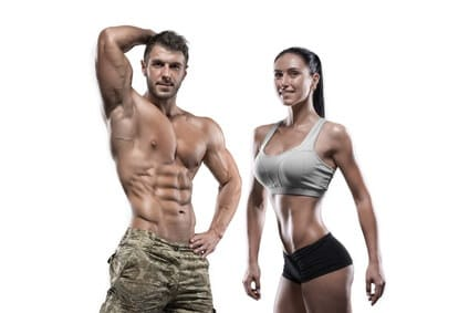 fitness mann und frau posieren
