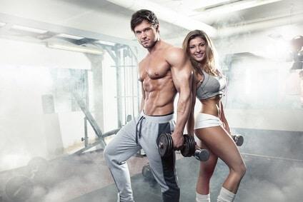 fitness paar mann frau gym