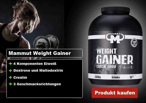 mammut weight gainer crash 5000 vorteile
