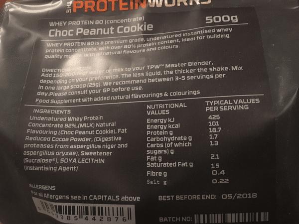 whey protein 80 inhaltsstoffe