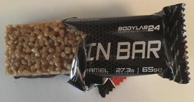 bodylab24-protein-bars-proteinriegel-banane-caramel-ausgepackt