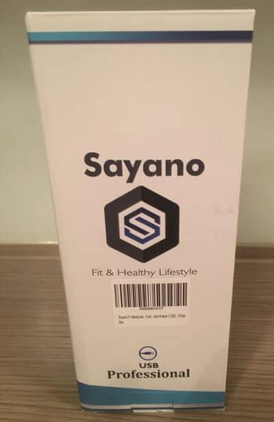 sayano elektrischer protein shaker professional verpackung