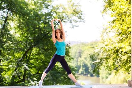abnehmen outdoor sport fit vital frau