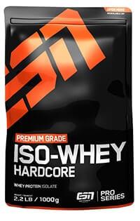 esn isowhey hardcore protein test