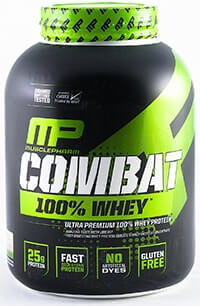 muscle pharm combat 100 prozent whey protein powder test