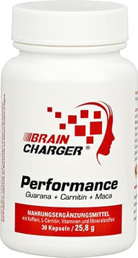 braincharger performance guarana koffein maca ginkgo carnitin vitamine