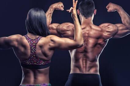 frau mann fitness vital rueckenmuskulatur