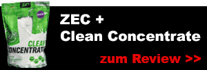 zecplus clean concentrate whey protein pulver testbericht