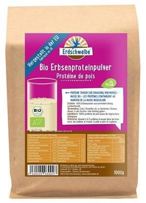 Erdschwalbe BIO Erbsenprotein Pulver
