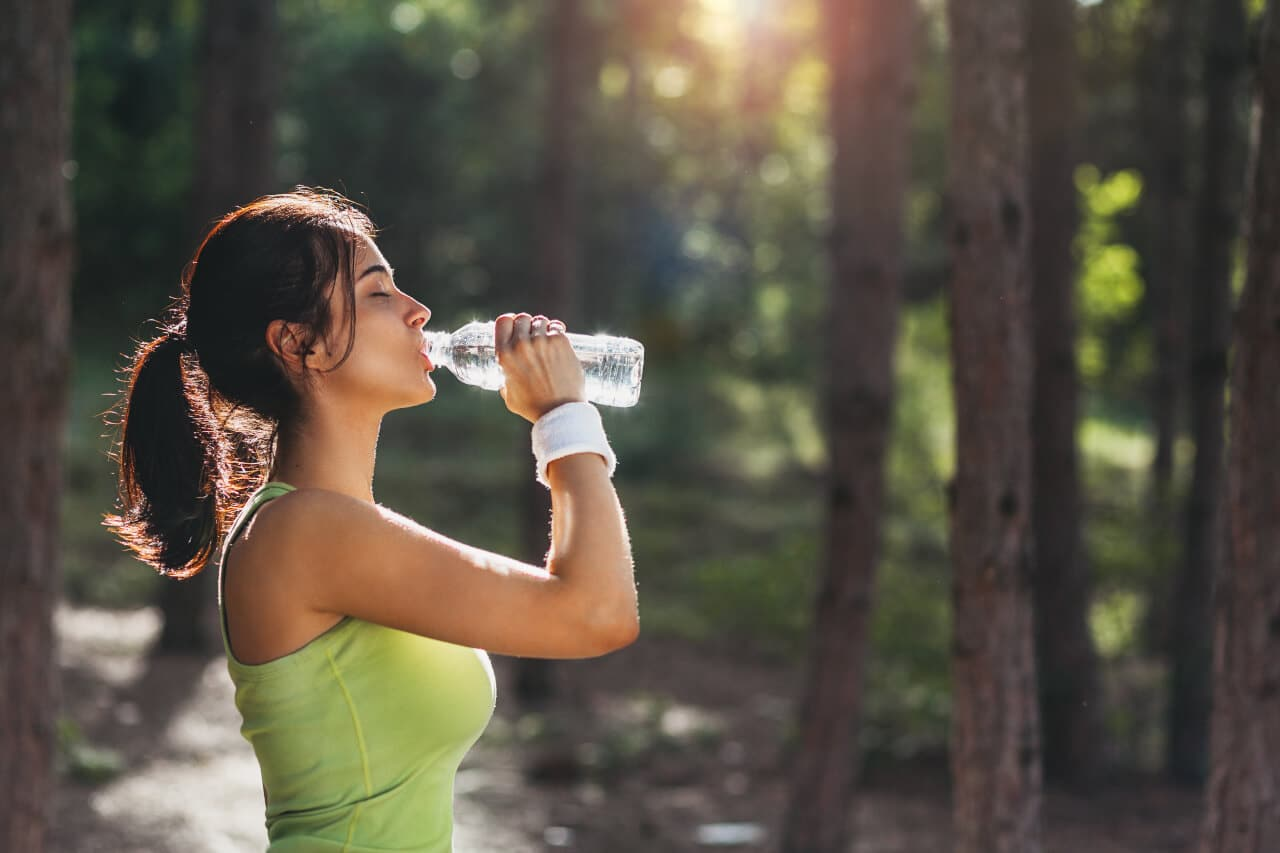 Wasser an Workouttagen